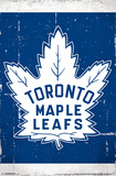 NHL: Toronto Maple Leafs- Retro Distressed Logo Poster
