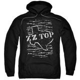 Hoodie: ZZ Top- Distressed Barbed Texas Pullover Hoodie