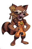 Guardians of the Galaxy Panel Featuring: Groot, Rocket Raccoon Photo