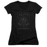 Juniors: The Word Alive- Show No Mercy Stamp V-Neck T-shirts