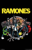 Ramones- Animated Band Print