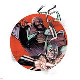 Marvel Knights Badge Art Featuring: Luke Cage, Iron Fist Plakát