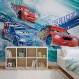 Disney Cars - Lightning McQueen & Raoul CaRoule - Vlies Non-Woven Mural Vlies Wallpaper Mural