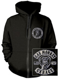 Zip Hoodie: Gas Monkey- Patch Logo (Front/Back) Sweat à capuche avec fermeture à glissière