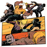 Marvel Knights Panel Featuring: Luke Cage, Iron Fist Stretched Canvas Print