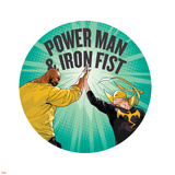 Marvel Knights Badge Art Featuring: Luke Cage, Iron Fist Prints