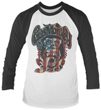 Gas Monkey- US Monkey Flag Logo (Raglan) T-Shirt