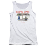 Juniors Tank Top: Office Space- Life Is A Beach Womens Tank Tops