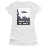 Juniors: X Files- Believe Poster T-Shirt