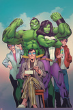 The Totally Awesome Hulk No. 8 Cover Art Featuring: Maddy Cho, She-Hulk, Rick Jones and More Posters by Alan Davis