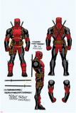 Deadpool Cover Art Kunstdruck