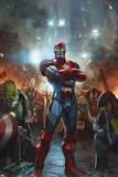 Contest of Champions No. 10 Cover Art with Maestro, Iron Patriot, White Fox, Punisher 2099 and More Prints by  Skan
