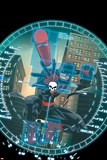 Daredevil - Punisher: Seventh Circle No. 3 Cover Art Featuring: Daredevil, Punisher Print by Reilly Brown