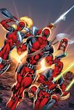 Deadpool Cover Art Featuring: Lady Deadpool, Deadpool, Headpool, Kidpool, Dogpool Poster