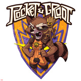 Guardians of the Galaxy Badge Art Featuring: Rocket Raccoon, Groot Prints