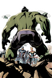 The Totally Awesome Hulk No. 9 Cover Art Featuring: Captain America, Captain Marvel Prints by Terry Dodson