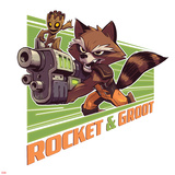 Guardians of the Galaxy Badge Art Featuring: Rocket Raccoon Posters