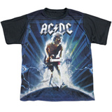 Youth: AC/DC- Electrifiedc Angus Black Back T-Shirt