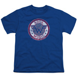 Youth: Weezer- Distressed Rock Music Button T-shirts