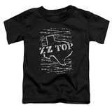 Toddler: ZZ Top- Distressed Barbed Texas T-shirts