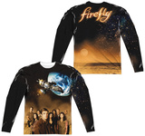 Long Sleeve: Firefly- Cast Poster (Front/Back) T-shirts