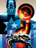 The Punisher No. 1 Cover Art Featuring: Captain America Posters by John Cassaday