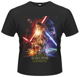 Star Wars: The Force Awakens- Force Awakens Poster T-shirts