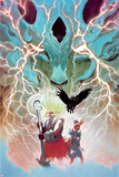 Weirdworld No. 5 Cover Featuring: Ogeode the Catbeast, Goleta the Wizardslayer, Becca the Earthgirl Posters par Mike Del Mundo