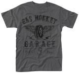 Gas Monkey- Distressed Flying Tire Logo T-shirts
