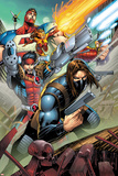 Thunderbolts No. 1 Cover Art Featuring: Mach-X, Atlas, Moonstone, Fixer, Winter Soldier Posters by Jon Malin