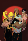 Marvel Knights Cover Art Featuring: Luke Cage, Iron Fist Print