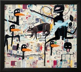 Tenor, 1985 Framed Giclee Print by Jean-Michel Basquiat