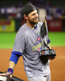 Ben Zobrist with the World Series MVP Trophy Game 7 of the 2016 World Series Photo