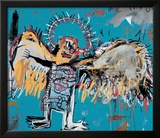Untitled (Fallen Angel), 1981 Framed Giclee Print by Jean-Michel Basquiat