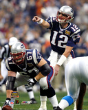 Tom Brady and Daniel Koppen - Super Bowl XXXVIII Photo