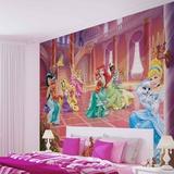 Disney Palace Pets - Princesses in the Ballroom - Vlies Non-Woven Mural Mural de papel pintado