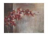 Crimson Flora Poster by Terri Burris