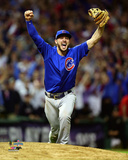 Kris Bryant celebrates the final out of Game 7 of the 2016 World Series Photo