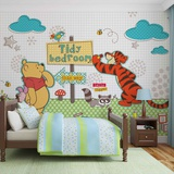 Disney Winnie the Pooh - Tidy Bedroom - Vlies Non-Woven Mural Vægplakat