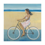 Bike Ride on the Boardwalk (Female) Print by Terri Burris