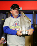Joe Maddon with the World Series Championship Trophy Game 7 of the 2016 World Series Photo