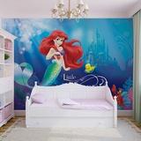 Disney The Little Mermaid - Ariel & Flounder - Vlies Non-Woven Mural Vlies-vægplakat
