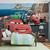 Disney Cars - Lightning McQueen and Francesco Bernoulli - Vlies Non-Woven Mural Papier peint intissé