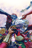 All-New, All-Different Avengers No. 8 Cover Art Featuring: Nova, Thor (Female), Falcon Cap and More Print by Alex Ross