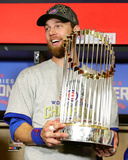 Ben Zobrist with the World Series Championship Trophy Game 7 of the 2016 World Series Photo
