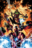 Invincible Iron Man No. 11 Cover Art Featuring: Ms. Marvel, Vision, Nova, Falcon Cap and More Posters af Mike Deodato