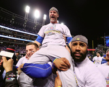 David Ross celebrates winning Game 7 of the 2016 World Series Photo