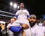 David Ross celebrates winning Game 7 of the 2016 World Series Photo