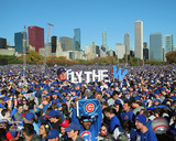 Chicago Cubs fans rally in Grant Park to celebrate team's World Series victory, 11/4/16 in Chicago Fotografía