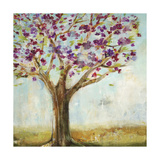 Burgundy Tree Prints by Jill Martin